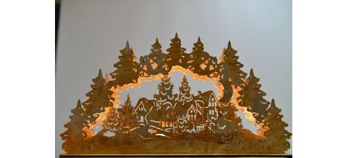 Светодиодный ночник из дерева ЗИМНЯЯ СКАЗКА