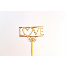 Топпер с надписью LOVE