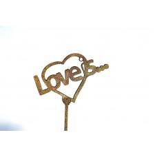 Топпер с надписью LOVE IS