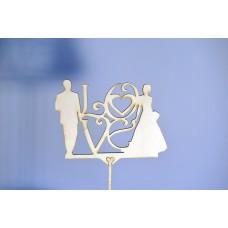 Топпер на свадебный торт ЖЕНИХ И НЕВЕСТА